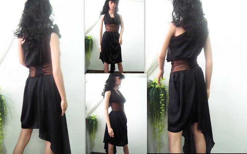 Нестандартна и многофункционална дамска рокля