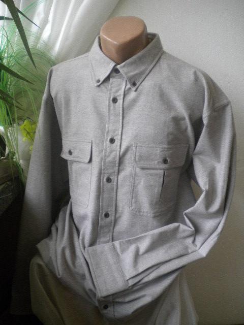 Спортно елегантна мъжка риза в сив цвят от 100% памук -бархет
