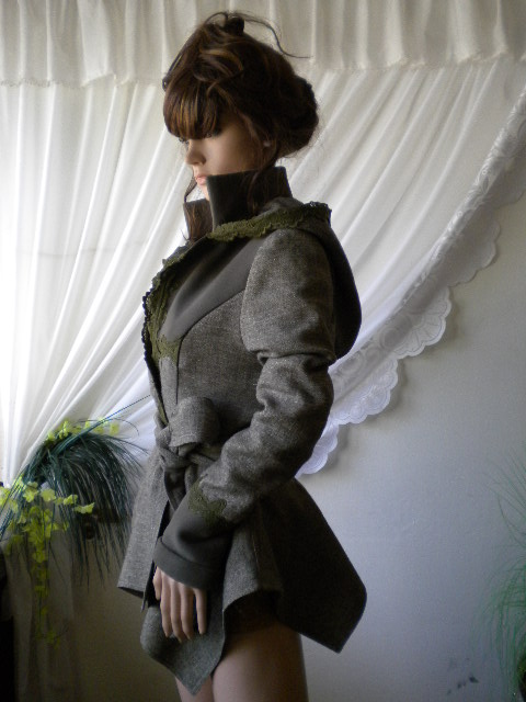нестандартно дамско сако - яке - палто с дантела