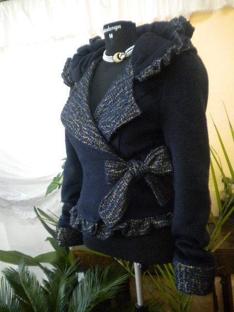 Уникат .   Дамско палто  с  големи ревери ,стилно и елегантно