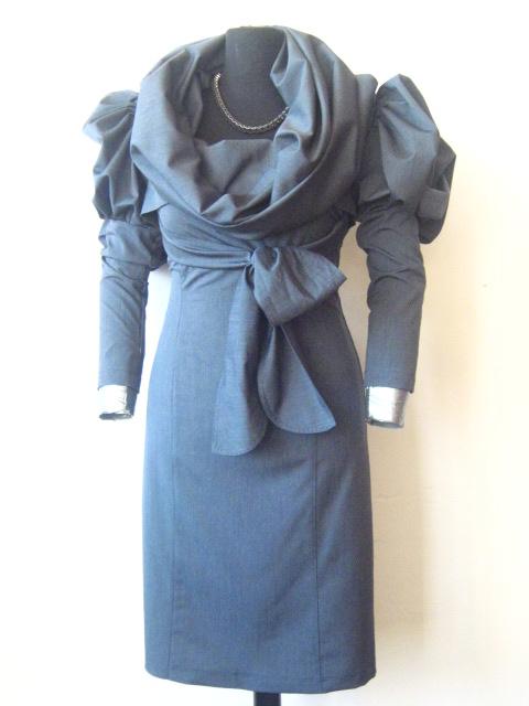 Елегантна дамска рокля с болеро и колан