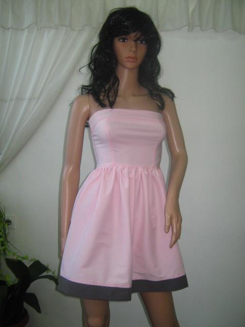 Розова туника бюстие или мини рокля с цип отзад