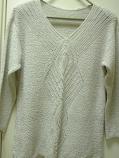 дамски пуловер плетен на фигури