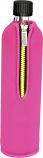 Стъклена бутилка 1 брой с калъф от неопрен, pink, 500 ml BIODORA