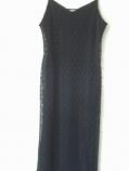 дамска черна дълга рокля от дантела