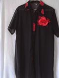 дамска риза дълга черна