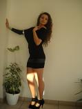 Нестандартна дамска туника с кожа и гол гръб