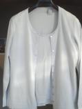 дамска жилетка и блуза комплект