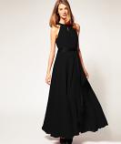 Дълга рокля Беана в черно