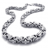 ланец от стомана сребърна плетка