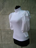 бяла блузка 100% памук
