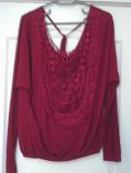 дамска блуза дълъг ръкав с дантела