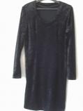 дамска черна къса рокля
