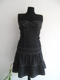 Елегантен дънков сукман или рокля с връзки на гърба