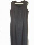 дамска черна дълга рокля