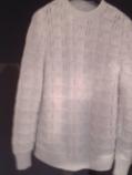 дамски пуловер плетен бял