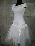 Бяла рокля  Снежанка  със къс ръкав