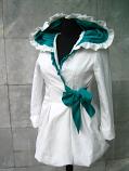 бяло сако със зелено
