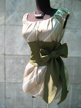Елегантна дамска блуза на ластици с корсет колан